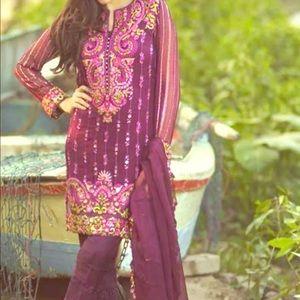Heavy chiffon collection top designer Mina Hassan